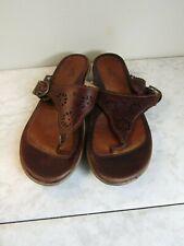 Dansko Cara Brown Leather Thong Strap Slides Sandal Shoes Women's Size 37
