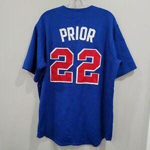 VTG Majestic Authentic Chicago Cubs Mark Prior 22 Baseball Jersey Mens L Sewn