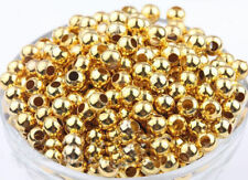 400Pcs gold and silver Metal Metal Round Ball Spacer Beads For Jewelry Making