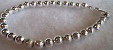 estate jewelry new 11.6 gram Sterling Silver ball bead Vintage Bracelet