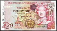 GUERNSEY 20 Pounds  ND (1996)   UNC