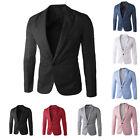 Mens One Button Suit Blazer Jacket Casual Slim Fit Blazer Coat Work Wedding Tops