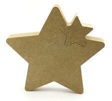 18mm Freestanding MDF Star In Star 15cm Interlocking Stars Blank Craft