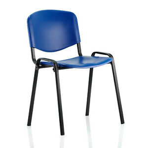 Polypropylene Stacking Chair in Blue W535 x D410 x H820mm (Bundle Offer)