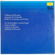 STOCKHAUSEN: Gruppen for 3 Orchestra DGG Avant Garde 137 002 Vinyl LP Tulips NM