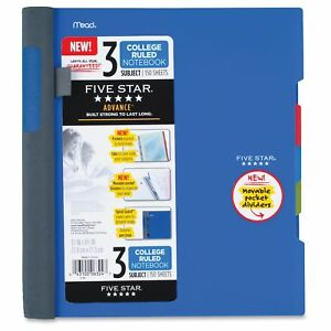 Mead Five Star Notebook - 150 Page - College Ruled - 1 Each Assorted Cover