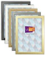 Vivarti Movie Game Theatre Poster Frame Thin Black White Oak Gold Silver Wood