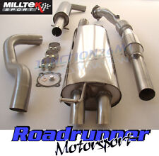 Milltek Golf MK4 Exhaust 1.8T Turbo Back System Resonated & Sports Cat Disc Tip