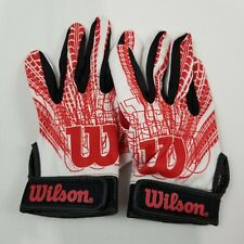 Wilson Football / Baseball Youth Super grip Gloves Sports Game Sz Large Red