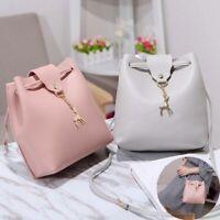 PU Handbag Women Leather Bag Lady Fashion Travel  Backpack Girls Shoulder School
