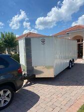 2017 diamond cargo 24 ft enclosed box trailer twin heavy duty axels like new