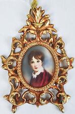 Portrait Miniature Napoleon II Francois Charles Joseph Bonaparte Gilt Dore Frame