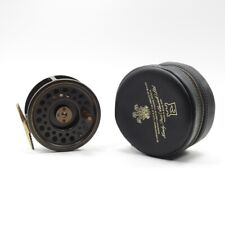 """Hardy """"The Golden Prince"""" 9/10 Fly Fishing Reel. First Edition. W/ Case."""