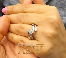 Moissanite Diamond Engagement Ring 1.50Ct 14K White Gold Princess Forever One