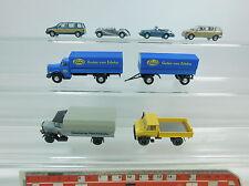 AI879-0,5# 7x H0/1:87 Modelle LKW/PKW/UNIMOG; Wiking, Busch, Hümmer, Roskopf