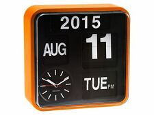 Karlsson Mini Flip Orange Clock Calendar Digital Stylish Designer Timepiece