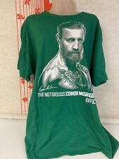 """Mens Ufc Conor McGregor """"The Notorious"""" Green Graphic T Shirt Size Xl"""