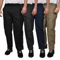 Mens Cargo Combat Work Trousers Tactical Pro Patrol Pockets Cotton Pants Jeans