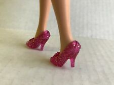 Glitter Crown Pink Shoes Barbie Doll Disney Heels  Princess Aurora