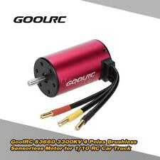 GoolRC S3660 3300KV 4 Poles Brushless Sensorless Motor  for 1/10 RC Car X6D4