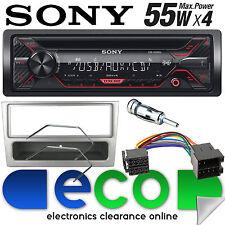 VAUXHALL MERIVA A 2002-05 Sony CD MP3 USB Radio Stereo Auto AUXINA Argento Trim