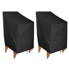 Waterproof Chair Cover High Back Outdoor Patio Garden Furniture Protector Covers