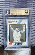 💎MICHAEL JORDAN 1989 NORTH CAROLINA COLLEGIATE GOLD CARD BGS 9.5 GEM MINT POP 5
