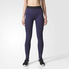 NWT Adidas CD1060 Women Training Seamless tights long pants purple navy SIZE XS