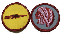 "2 BSA Boy Scouts of America Flaming Arrow & Indian Head Round 2"" Patch"