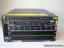 Cisco Switch Bundle WS-C6504-E + VS-S720-10G-3C  WS-X6716-10GE 16x 10GbE X2-Slot