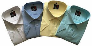 Mens Short Sleeve Big Size Summer Oxford Shirts 3XL to 5XL Cotton Blend