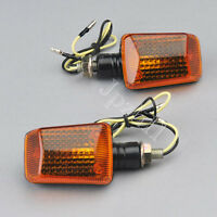 2x Motorcycle Motorbike Turn Signal Indicators Light Bulb Amber Orange Lens J10D