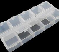 Perlenbox Dosen SORTIERBOX MIT JEWEILS 10 FÄCHER SAMMELBOX Perlenkasten B27