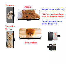 Havanese Terrier POMERANIAN Cane pelle custodia per telefono samsung, iPhone,
