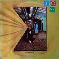 "TEN CC - SHEET MUSIC - GODLEY-CREME - UK LBL - 1974 LP - ""WALL STREET SHUFFLE"""