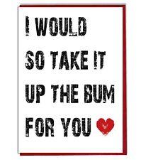 Funny Rude Bum Anniversary Valentine's Day Birthday Card For Boyfriend Husband