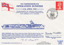 Operation Sunfish HMS Emperor Signed C Madden in action, R Warren