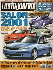 L'AUTO JOURNAL 2000 SALON DE L'AUTOMOBILE 2001 TOUTES LES VOITURES DU MONDE 2001