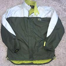 Starter Green Nylon Jacket Zip Front Rain Windbreaker Pockets Mens Size XL