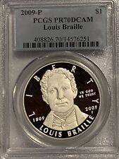 2009-P LOUIS BRAILLE Commemorative Silver Dollar PCGS PR70DCAM