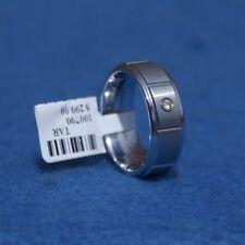 NWT Dura Blanc Tungsten w/.05 TCW Diamond 8mm Wedding Band Size 11 11 grams