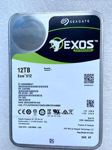 "ST12000NM0027 Seagate Exos X12 12TB 12Gb/s 7.2K 256MB SAS 3.5"" Hard Disk Drive"