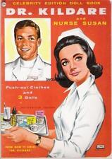 Vintage Uncut 1960's Dr Kildare Paper Dolls W/Nurse Susan~#1 Reproduction~Scarce
