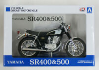 Aoshima Skynet 05856 YAMAHA SR400&500 Glittering Black 1/12 Scale Finished