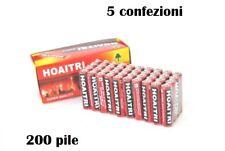 Set 200 Pile Batterie R06 AA Stilo Um-4 1.5V hsb