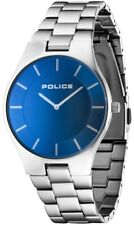 Police 14640MS/70M Splendor Gents Stainless Steel Blue Dial 2 Year Guar RRP £115