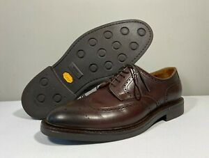 """Ralph Lauren Polo """"Asher"""" Brown Leather Wingtip Oxford VIBRAM Shoes 10.5D EXC.!"""
