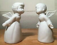 Vintage Napcoware Ceramic Boy and Girl Angels, Taiwan, Excellent