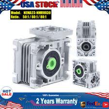 Worm Gear Speed Reducer Nema23 030 Reduction Gearbox Ratio Gear Box 50 60 801