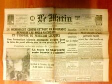 """JOURNAL DE PROPAGANDE DE LA COLLABORATION / """"LE MATIN"""" N° 21817 / 14 JUIN 1944"""